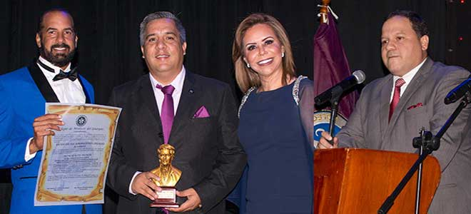 Juan Carlos Estrada, Camilo Salinas Ochoa, gobernador de la provincia de Los R�os, y Luisa Delgadillo; Ernesto Carrasco, presidente CMG.