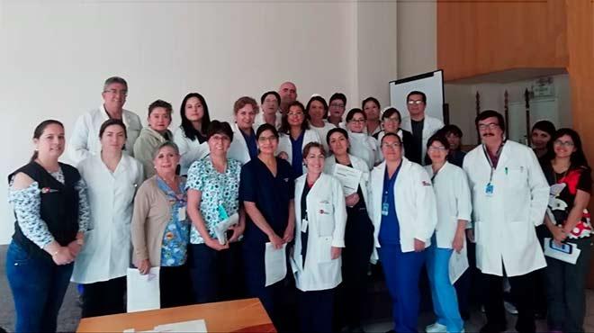 Representantes de hospitales de Quito.