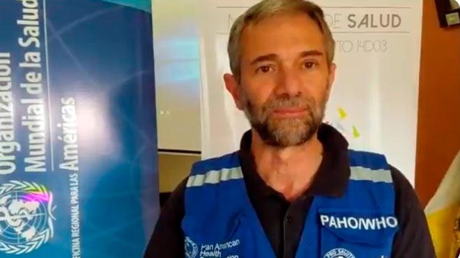 Adri�n D�az, consultor de OPS.