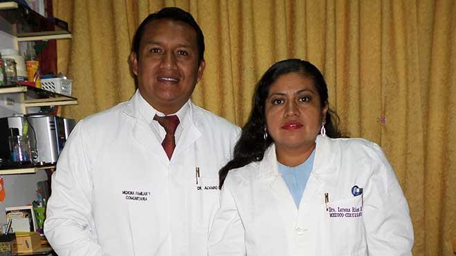 �lvaro Quinche y Ana R�os, m�dicos investigadores.
