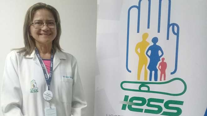Ana Mar�a Guzm�n, neur�loga del Hospital Los Ceibos.