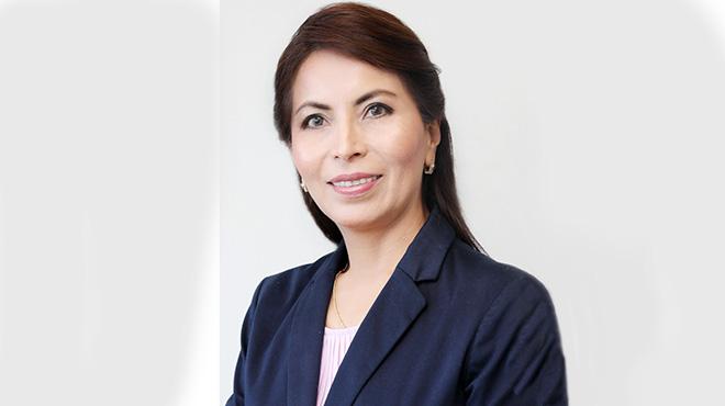 Ana Mar�a V�squez, presidenta de la Sociedad Ecuatoriana de Glaucoma.