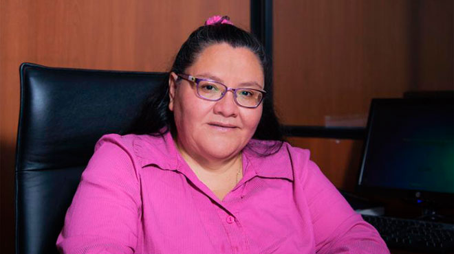 Ana Luc�a Ruano, presidenta de la Comisi�n Permanente de Ex�menes del CACES.