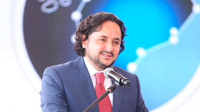 Andr�s Michelena, ministro de Telecomunicaciones y de la Sociedad de la Informaci�n.