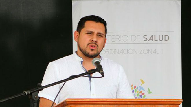 Juan Andr�s Chuchuca, coordinador zonal 6 de Salud.