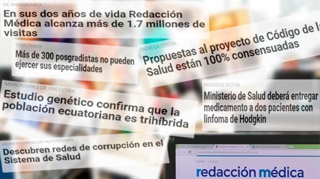 Redacci�n M�dica informa a la profesi�n m�dica ecuatoriana y otros colectivos sanitarios del pa�s.