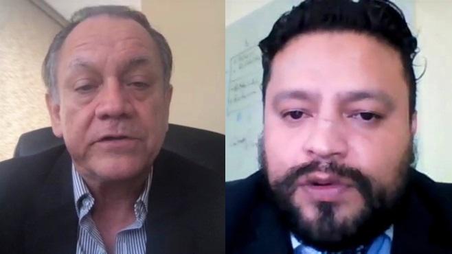 Mario Rafael Ayala y David Apolo.