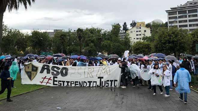 Marcha convocada en Quito.