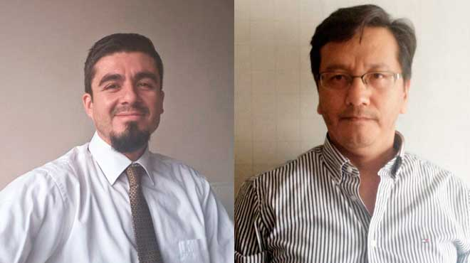 Augusto Gonz�lez, Pfizer Ecuador, y Manuel Balde�n, UTE