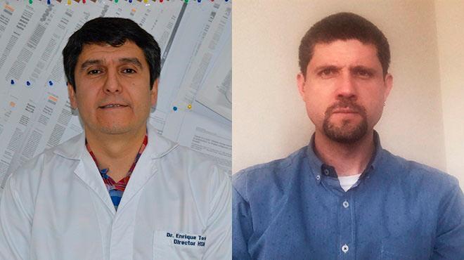 Enrique Ter�n y Sebasti�n Oleas, profesores de la USFQ.