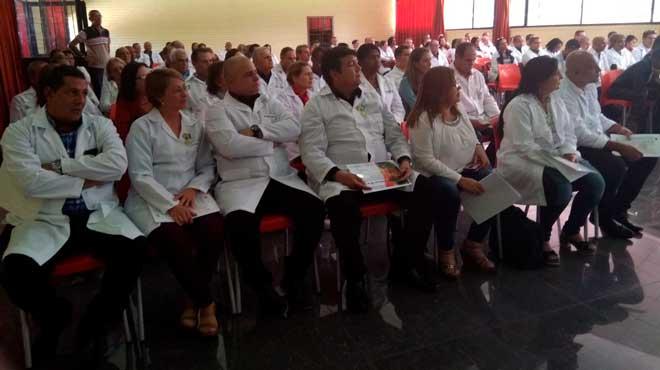 Miembros de la Brigada M�dica Cubana en Ecuador.