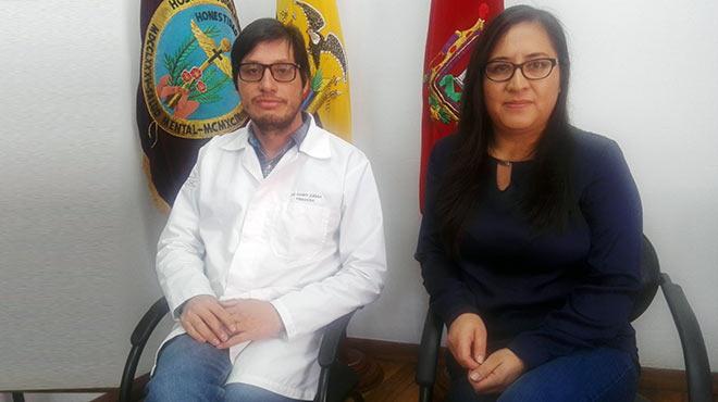Daniel Z��iga y Mariela Rubio, del CAAE San L�zaro.