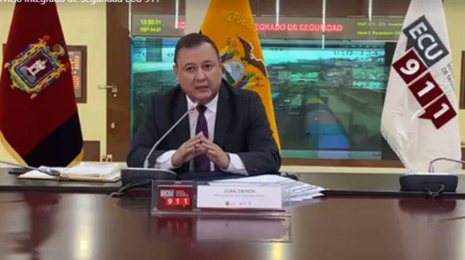 Juan Zapata, presidente del COE Nacional.