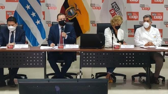 Rueda de prensa del COE Nacional.