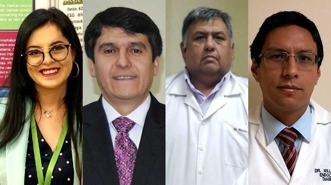 Gabriela Zambrano, Enrique Ter�n, H�ctor Rosero y William Acosta.