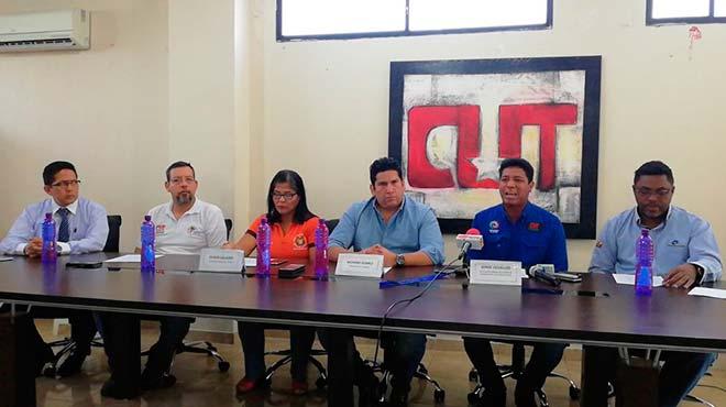 Dirigentes de la Central Unitaria de Trabajadores.