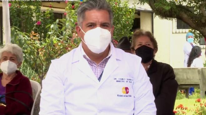 Camilo Sanitas, ministro de Salud.