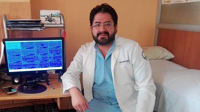 Carlos Torres, responsable del �rea de Cardiolog�a Cl�nica y Arritmias del Hospital Enrique Garc�s.