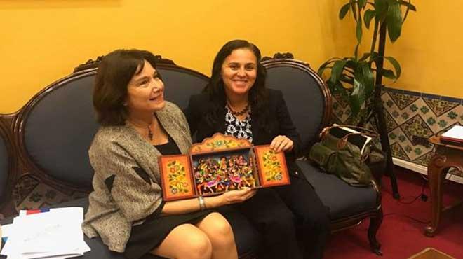 Carmen Castillo y Patricia García, ministras de Salud de Chile y Perú
