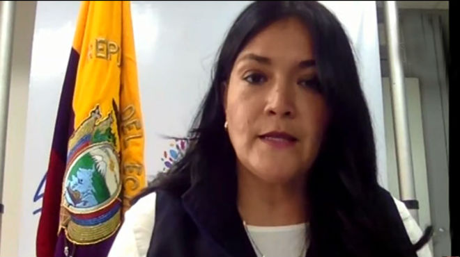 Catalina Andramu�o, ministra de Salud.