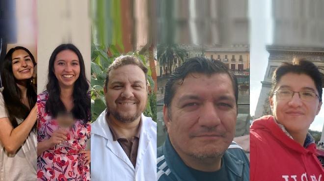 Emilia Morales, Ver�nica Casta�eda, Francisco Cabrera, Ramiro D�az y Andr�s Caicedo.