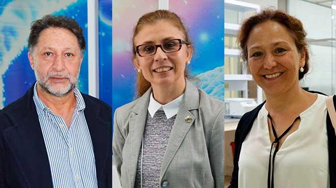 César Paz y Miño, Paola Leone y María José Trujillo Tiebas