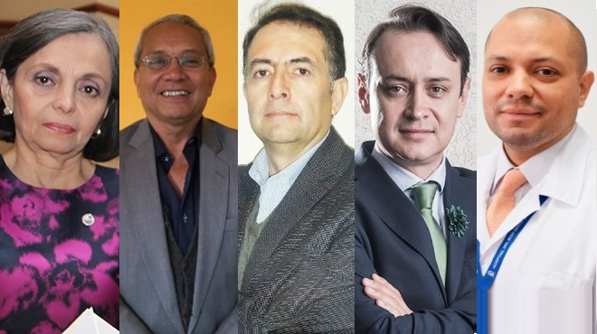 Ana Cevallos, Fernando Sacoto, Santiago Salguero, Alexis Noboa y Juan S�nchez.