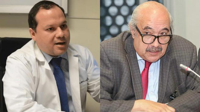 Ernesto Carrasco, presidente de la FME, y Gabriel Orihuela, presidente de la Fundaci�n Pacientes Ecuador.