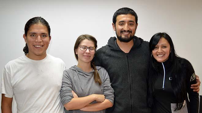 Gabriel Marmol, Marie Nogues, Luis Arroyo y Paulina Barrera, Colectivo Ananda.