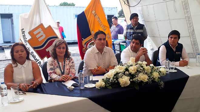 Representantes del MSP y de la Gobernaci�n de Manab�.