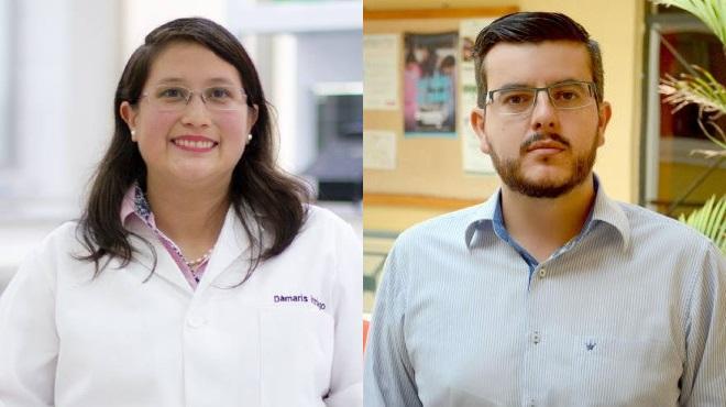 D�maris Intriago y Pa�l C�rdenas, docentes universitarios.