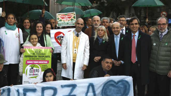 Autoridades durante el acto por el D�a Nacional de Donaci�n de Trasplantes.