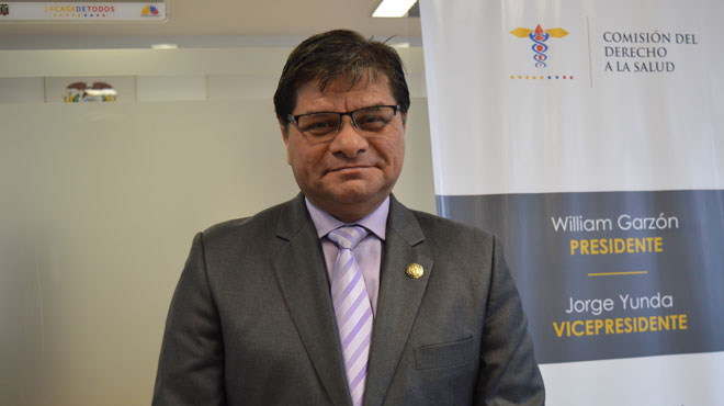 William Garz�n, presidente de la Comisi�n de Salud.