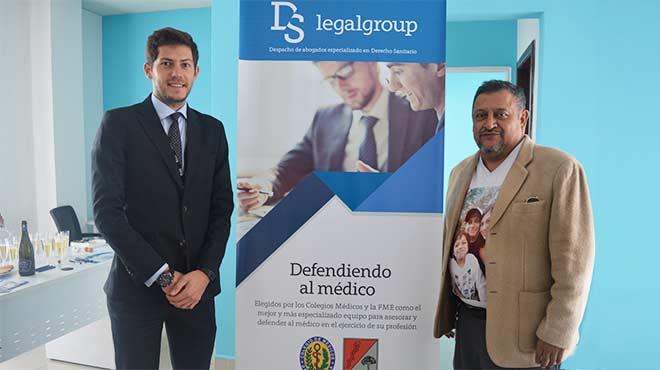 Daniel Soto, director de DS Legal Group Ecuador y Jos� Eras, presidente de la FME.