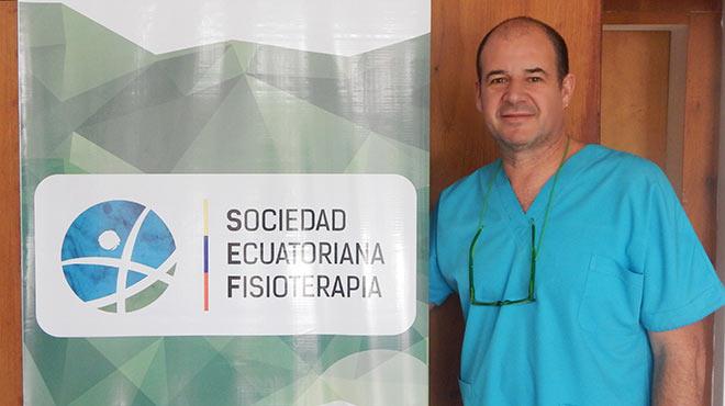 Daniel Wappenstein, presidente de la Sociedad Ecuatoriana de Fisioterapia