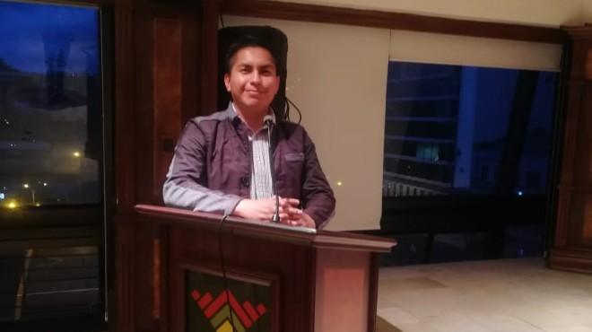 Darwin Gualco, presidente del Colegio de Enfermeras y Enfermeros de Cotopaxi.