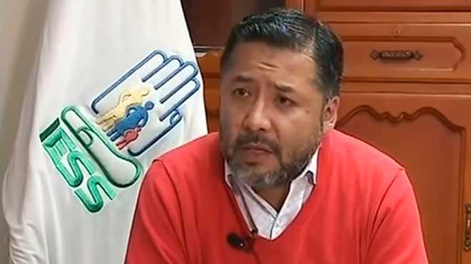 David Rúales, director general del IESS.