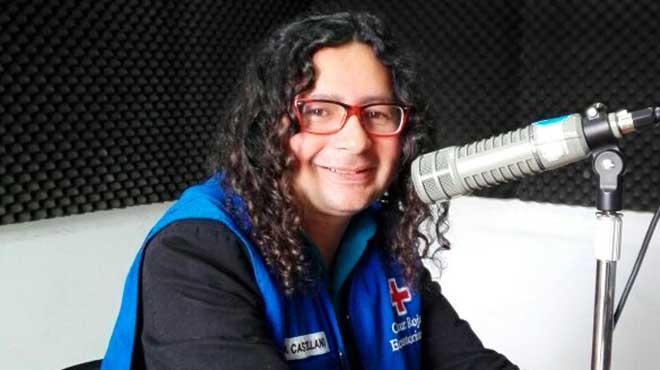 David Castellano, coordinador del Programa de Juventud de Cruz Roja Ecuatoriana
