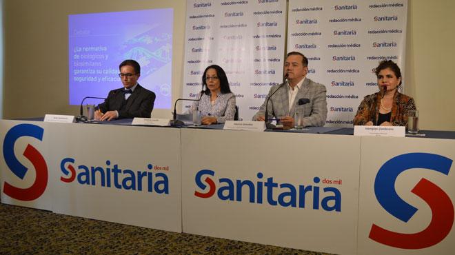 Javier Santamaria, Cristina Coello,Fabricio González y Hemplen Zambrano.