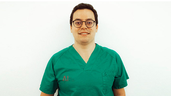 Diego P�ez, residente de Radiodiagn�stico.