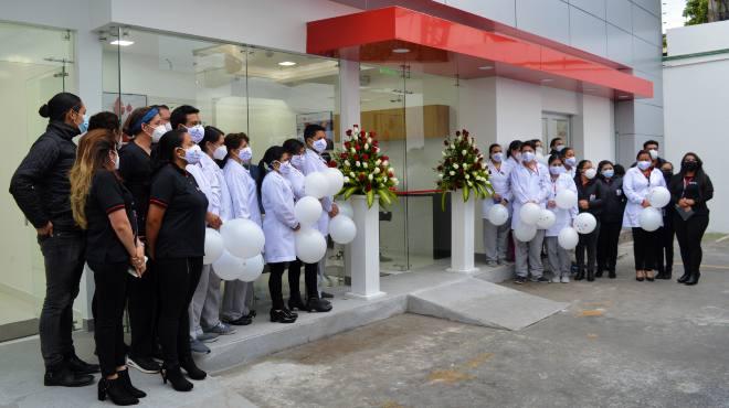 Inauguraci�n del nuevo punto de donaci�n, al norte de Quito.
