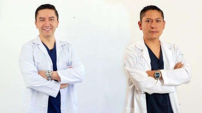 David Cabrera y Christian Benavides, de la Cl�nica de Lesiones Deportivas.