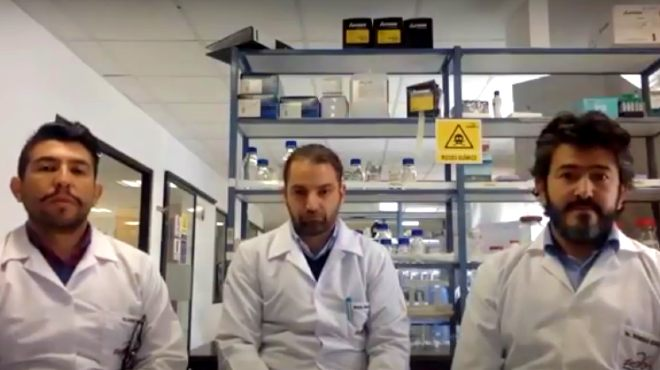 Esteban Ortiz, Miguel �ngel Garc�a y Rodrigo Henr�quez, investigadores de la UDLA.