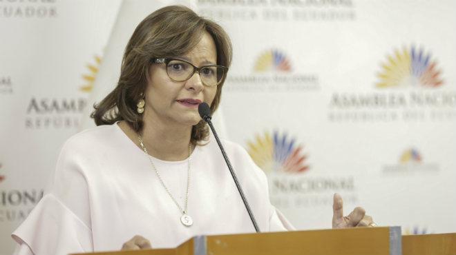 Elizabeth Cabezas, presidenta de la Asamblea Nacional.