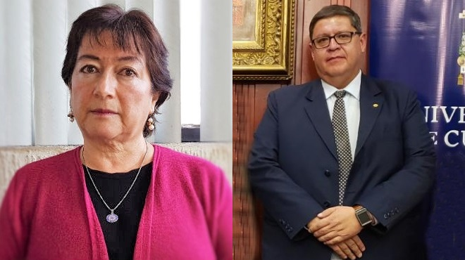 Virginia G�mez de la Torre y Bernardo Vega.