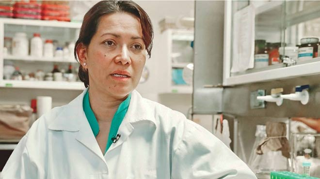 Eva Ram�n Gallegos, cient�fica del Instituto Polit�cnico Nacional de M�xico.