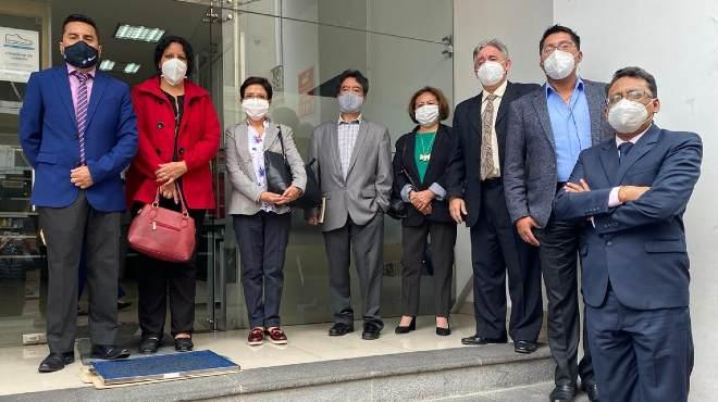 Miembros de la Federaci�n Nacional de Qu�micos Farmac�uticos y Bioqu�micos Farmac�uticos del Ecuador.