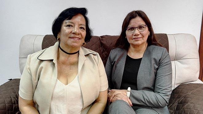 Mar�a Gerardina Merch�n y Patricia Gavil�nez, Federaci�n Ecuatoriana de Enfermeras y Enfermeros.