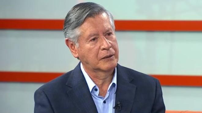 Fernando Semp�rtegui, rector de la UCE.