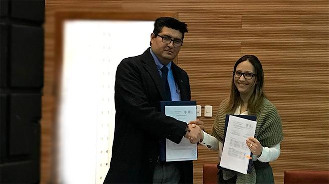 Marcelo Mata, ministro de Ambiente, y Ver�nica Espinosa, ministra de Salud.